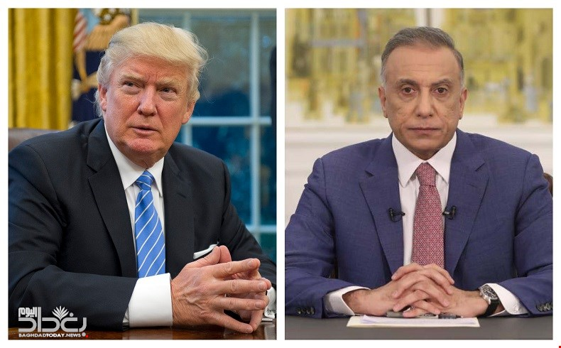 The agenda of Al-Kazemis visit to Washington the date of his meeting with Trump and the names of the accompanying delegation