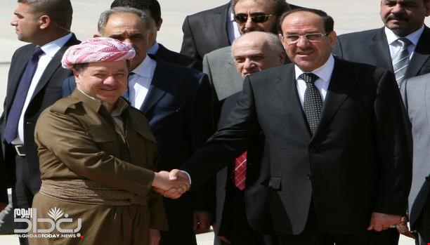 Newspaper - A meeting between Maliki and Barzani ends a break of years