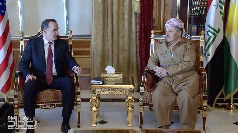 Massoud Barzani is relieved after the meeting between MacGorek and Siliman